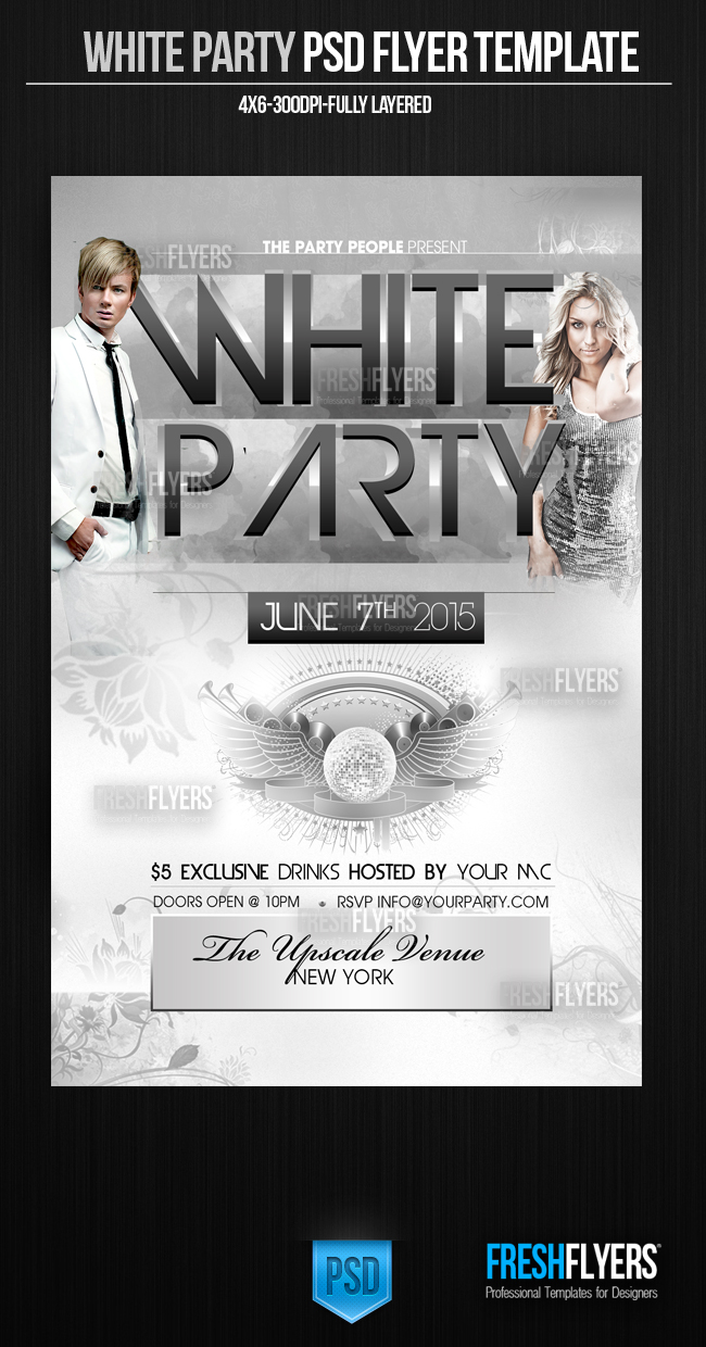 14 White Party All Photoshop Flyer Templates Images