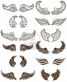 13 Baby Angel Wings Vector Images
