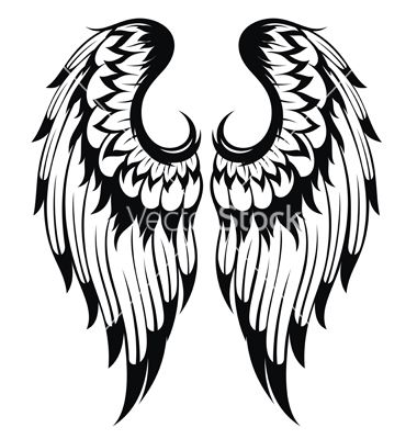 11 Angel Wings Silhouette Vector Images