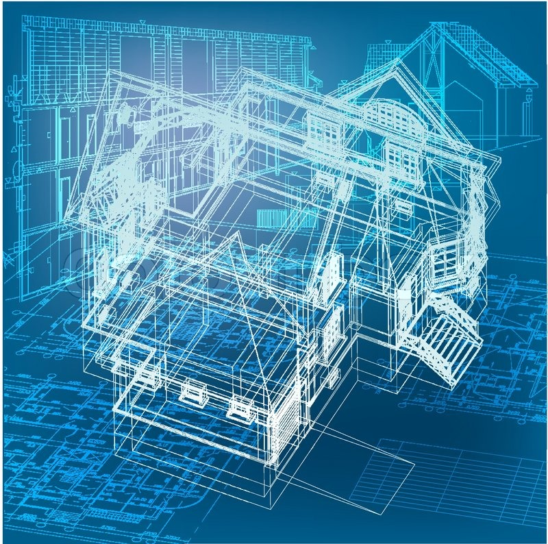 architecture blueprint 12 vector architecture building design images green