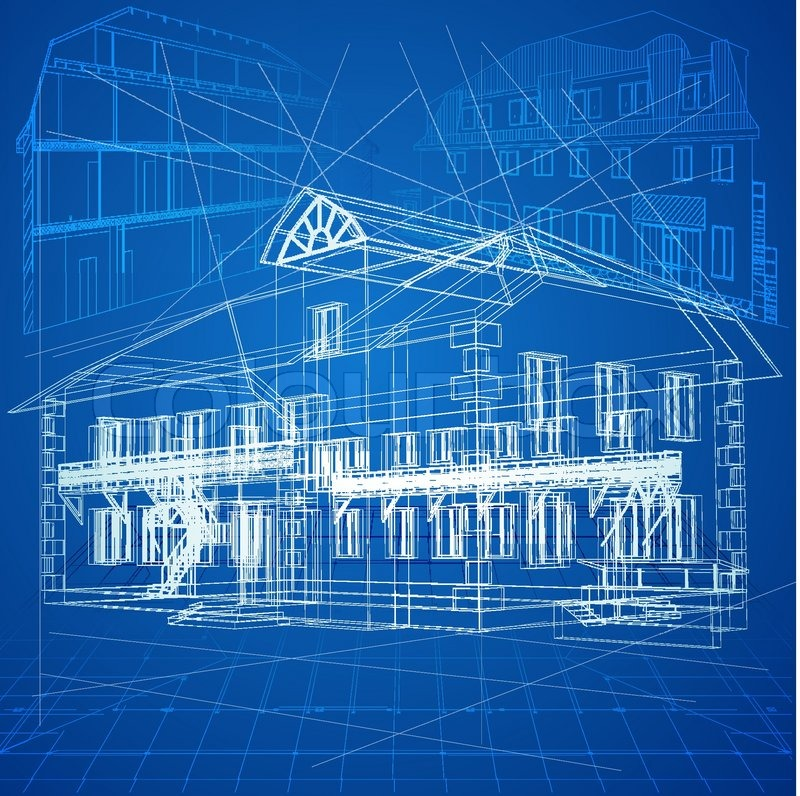 8 vector architecture blueprints images free vector for Online architecture drawing