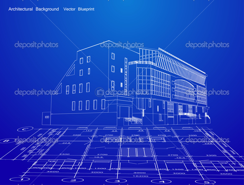 Blue Prints For Homes Residential House On Architect