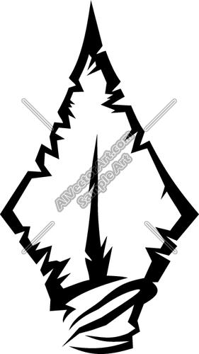 10 Indian Arrowhead Vector Images