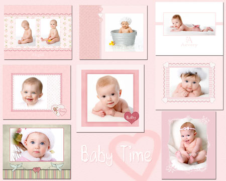 Baby Collage Templates Photoshop