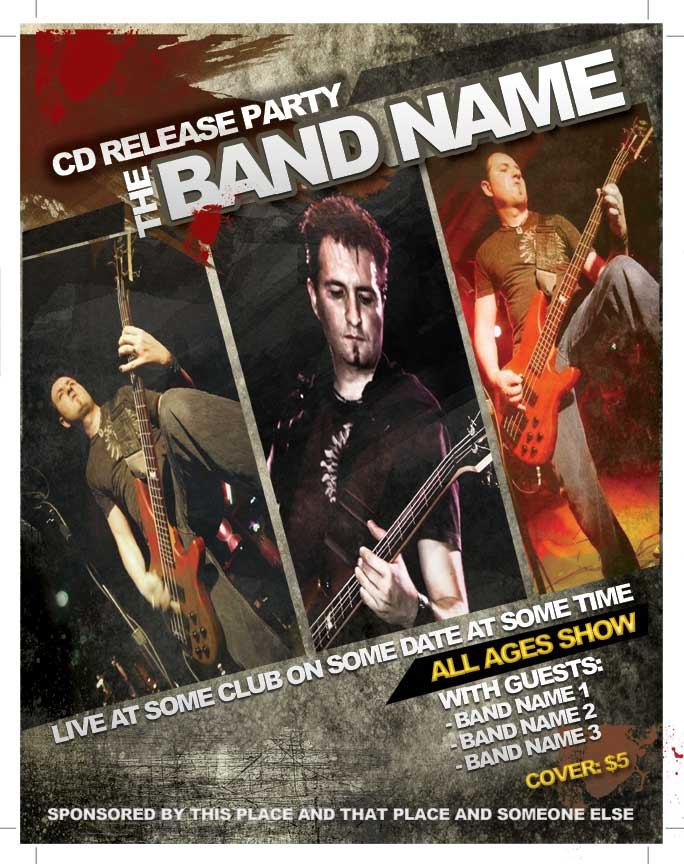 Band Flyers Templates Free