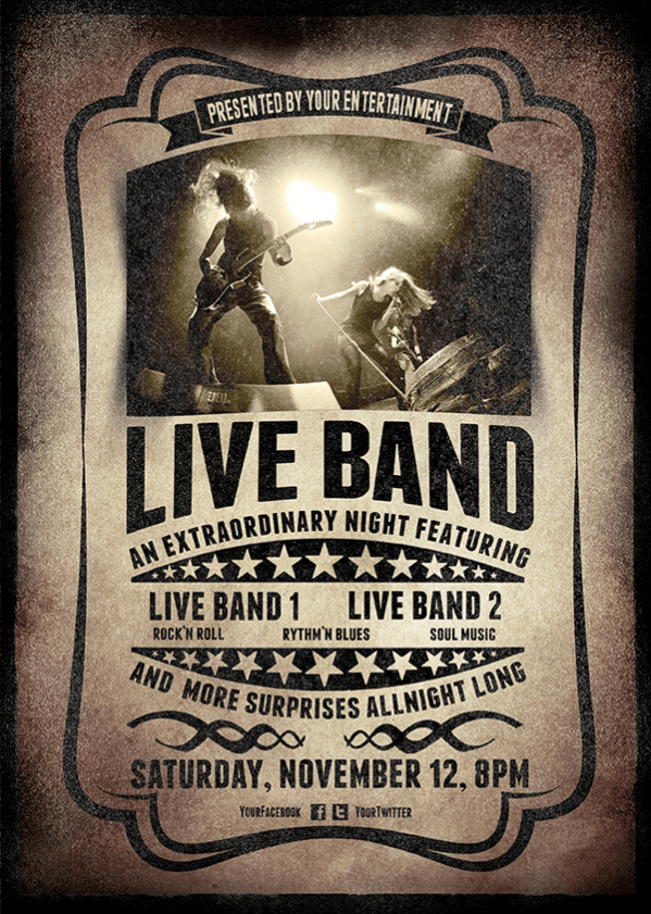 13 Photoshop Band Flyer Template Free Images Psd