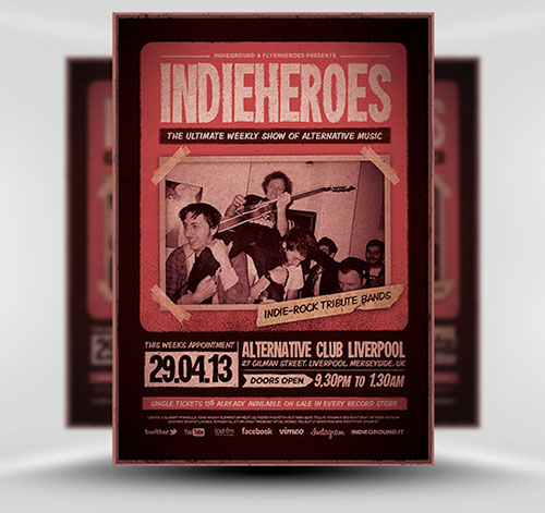 13 Photoshop Band Flyer Template Free Images Photoshop Psd Band