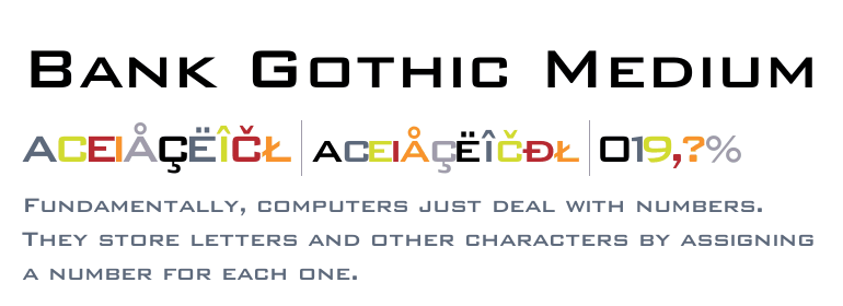 Bank Gothic Medium