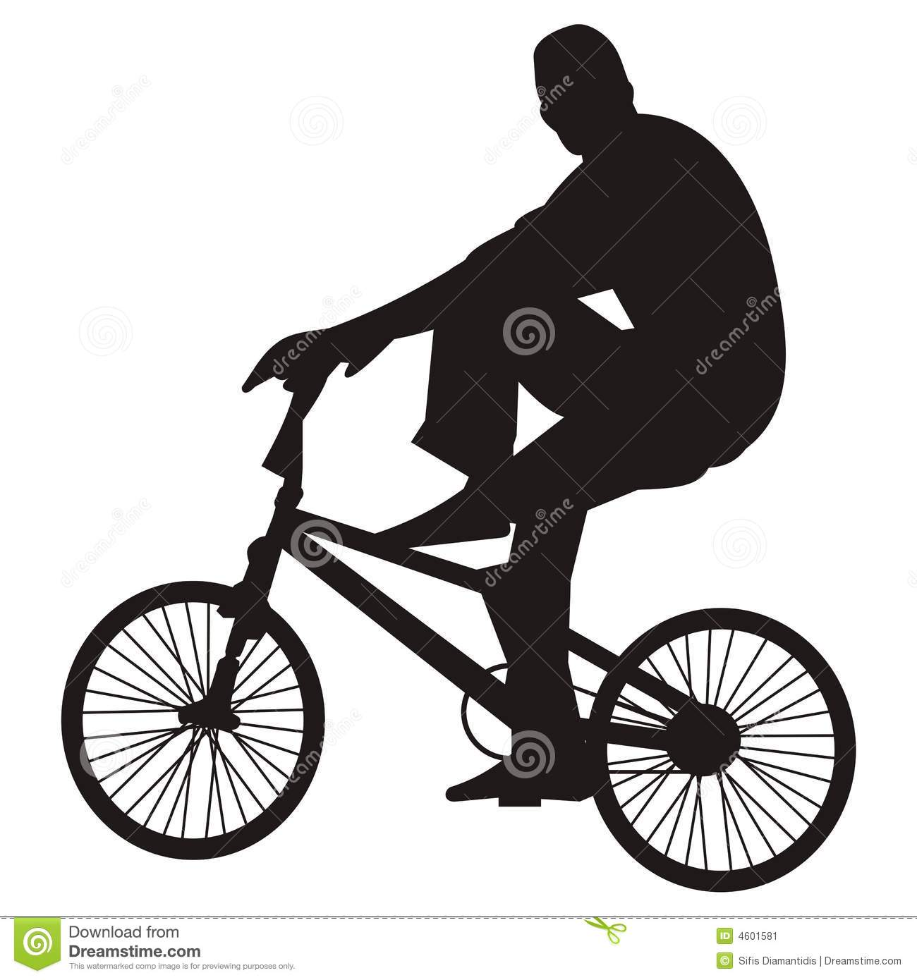 free clip art of bicycle rider - photo #50