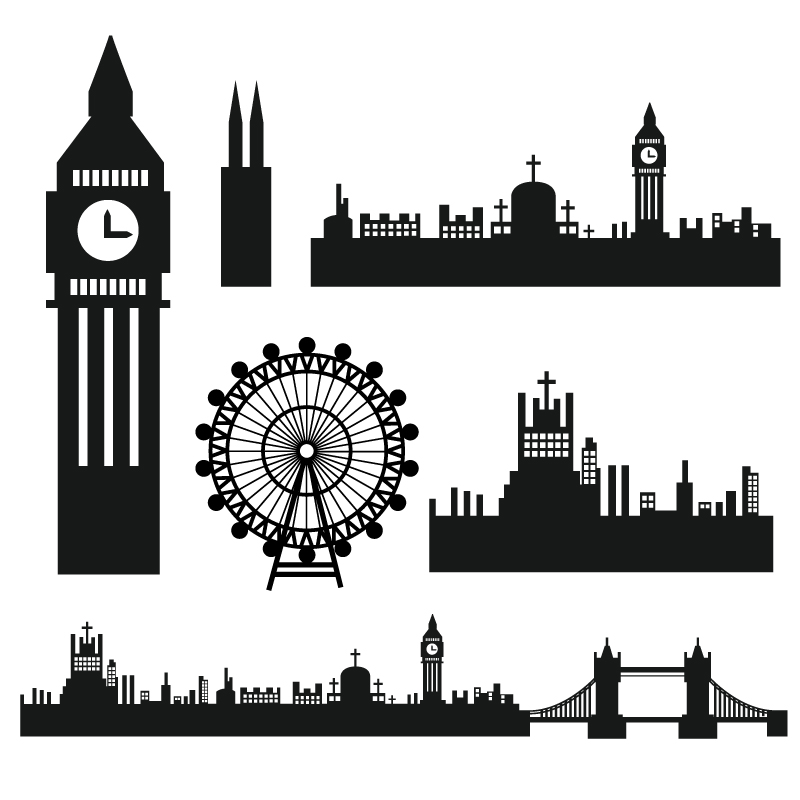 Big Ben Silhouette Vector
