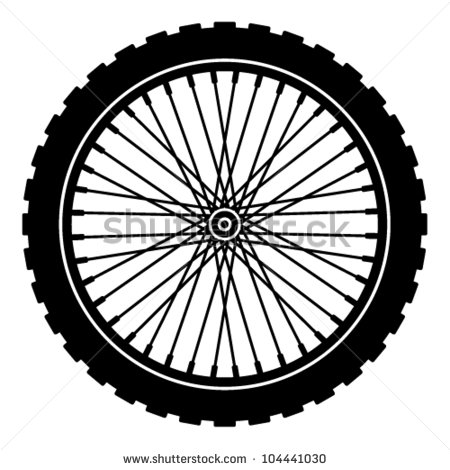 14 Bicycle Wheel Silhouette Vector Images