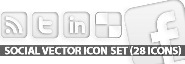 Black and White Facebook Icon Vector