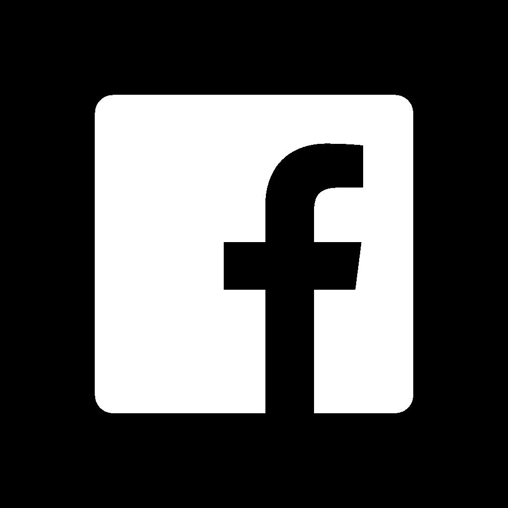 Black and White Facebook Logo Icon
