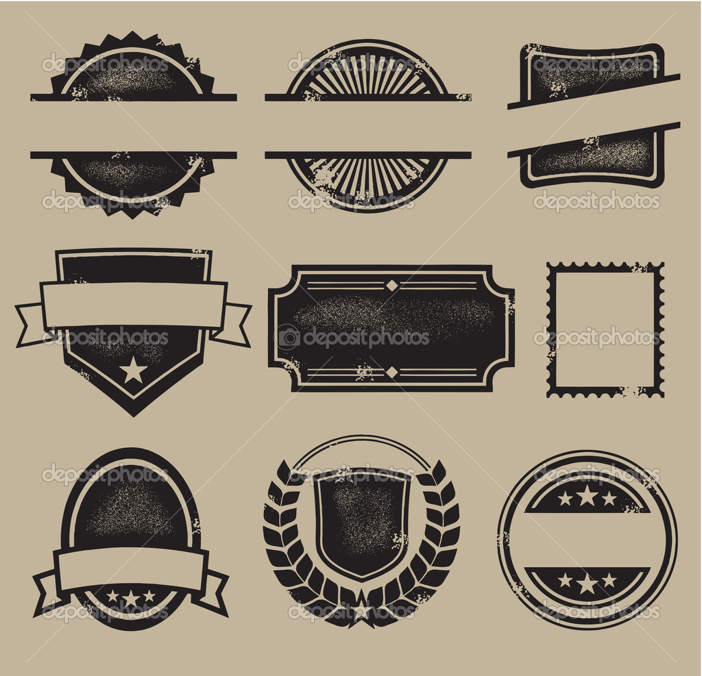 13 Vintage Vector Badge Templates Images Blank Maxwellsz