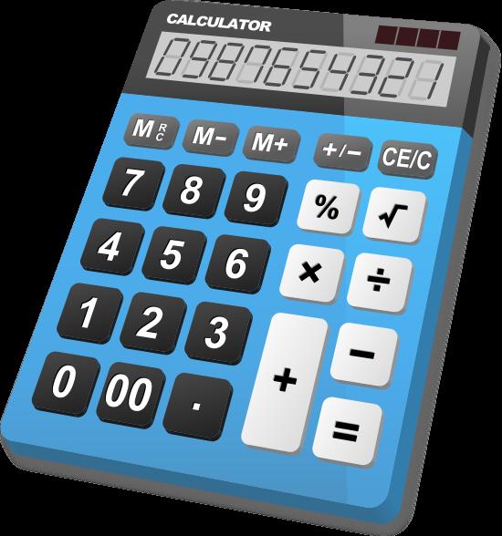 Calculator Light Blue