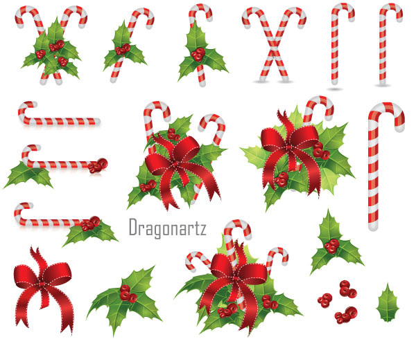 9 Free Vector Christmas Berries Images