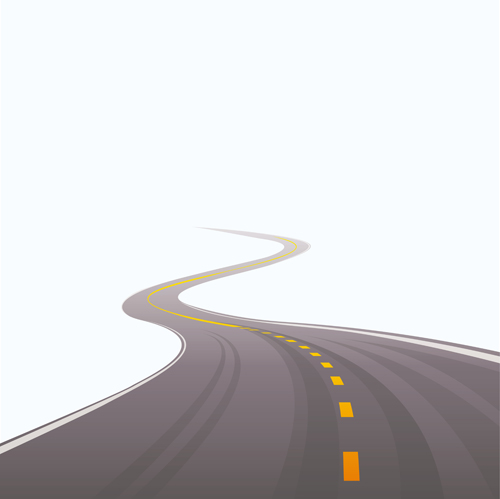 Cartoon Winding Road Vector