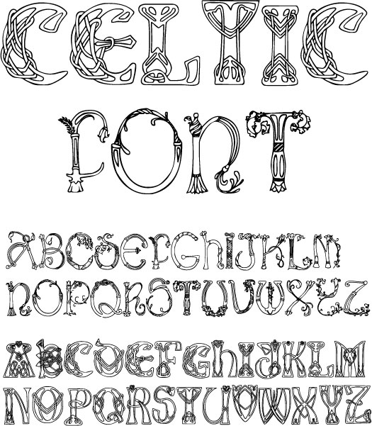 9 Celtic Letter Fonts Images