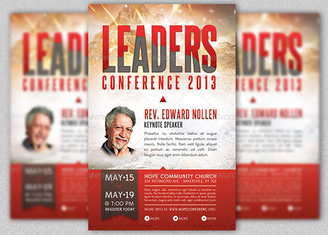 Church Leadership Conference Flyer Template