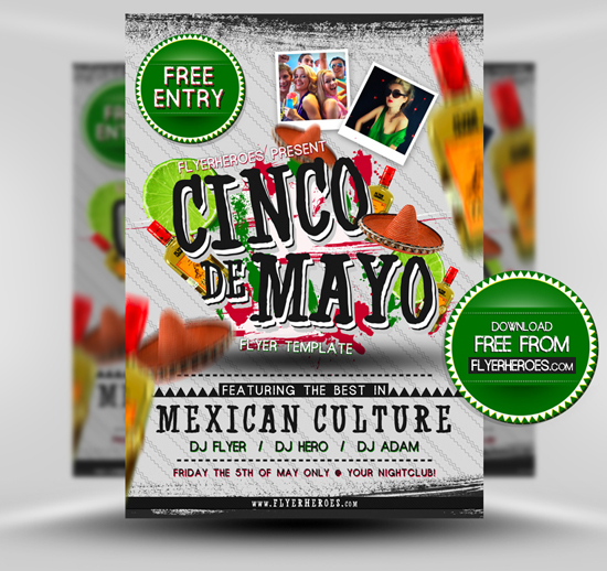 Cinco De Mayo Flyer Template Free