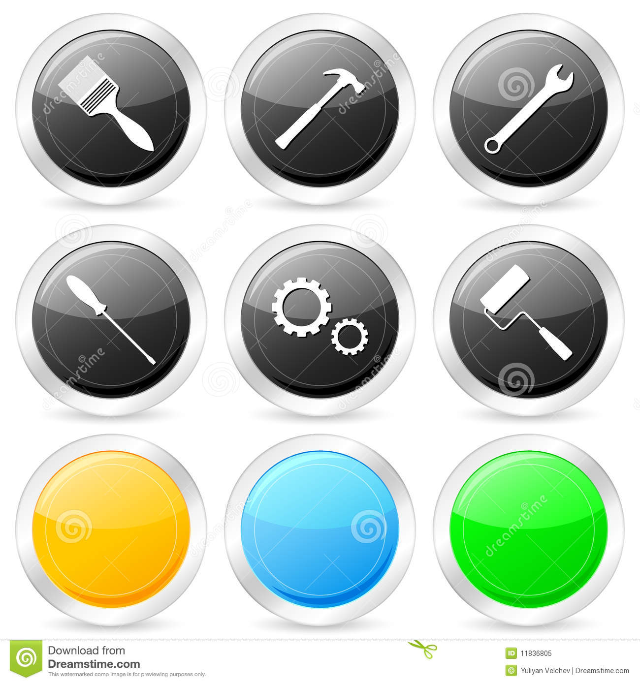 9 Tools Icon Circle Images