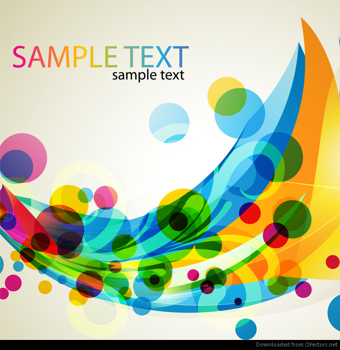 Colored Abstract Design Vector Art