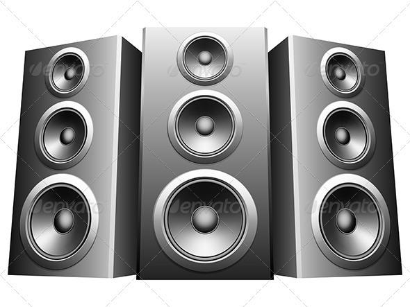 11 Audio Speaker Vecto...