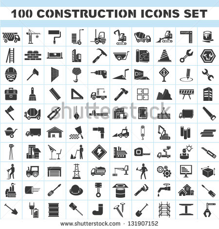 Construction Icon Set 100