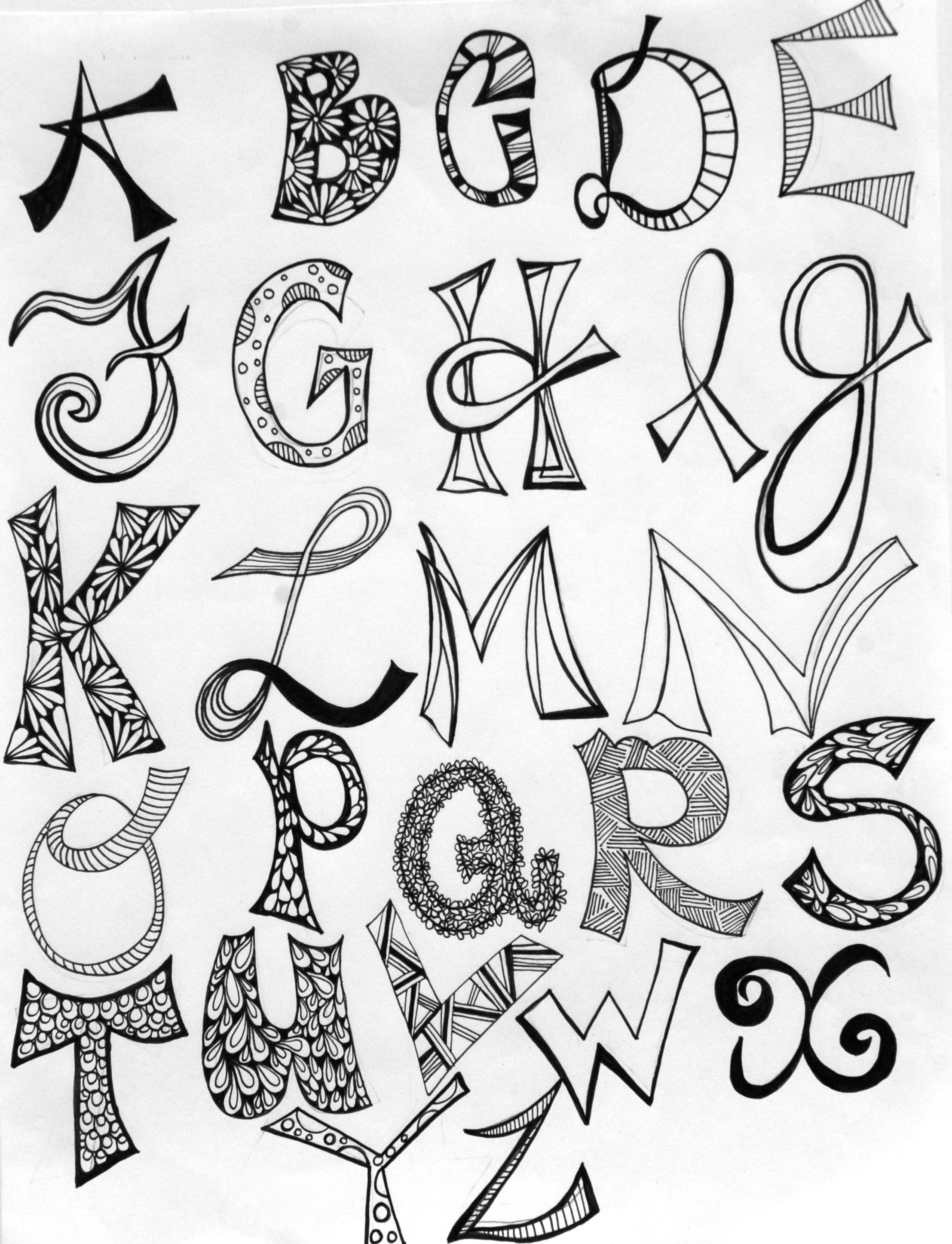 13 Cool Letter Fonts To Draw Images Easy To Draw Cool Letter Fonts