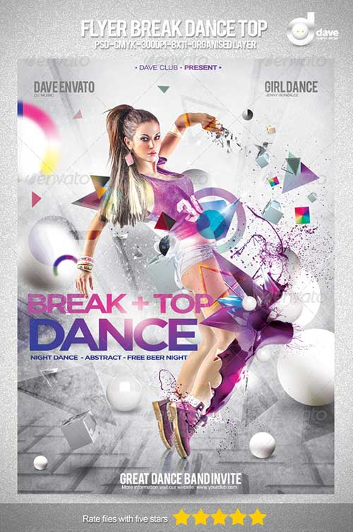 15 Dance Templates For Photoshop Images