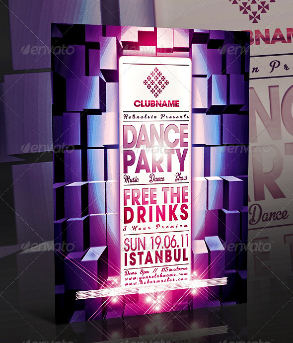 Dance Party Flyer Templates Free