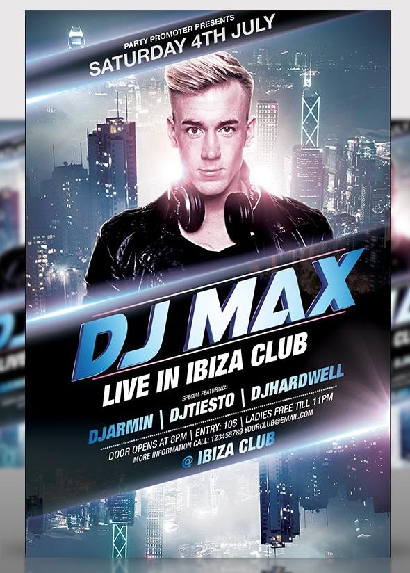 DJ Party Flyer Templates Free