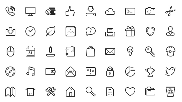 10 Simple Vector Icons Images