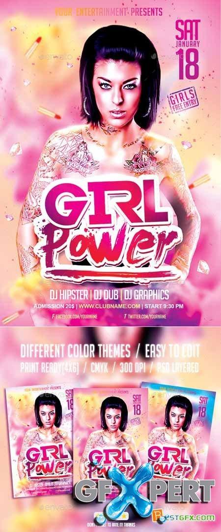 Female Party Flyer Templates
