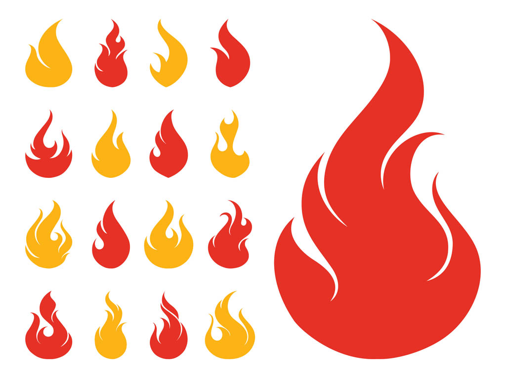 15 Flame Vector Icon Images