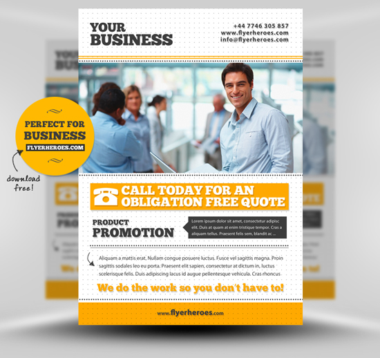 15 Free Business Flyer Templates Photoshop Images