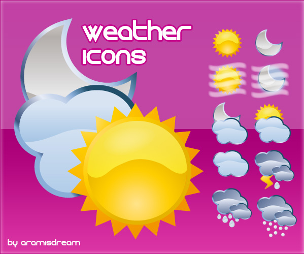 Free Desktop Weather Icons