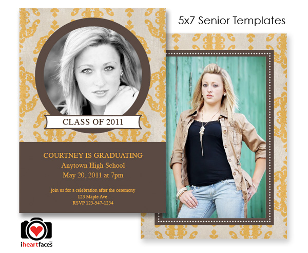 12 Free Senior Photoshop Templates Images
