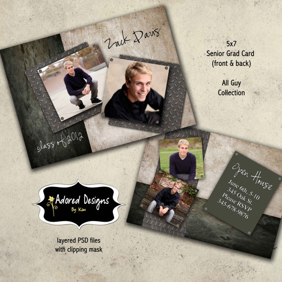 11 Senior Announcement Photoshop Templates Images