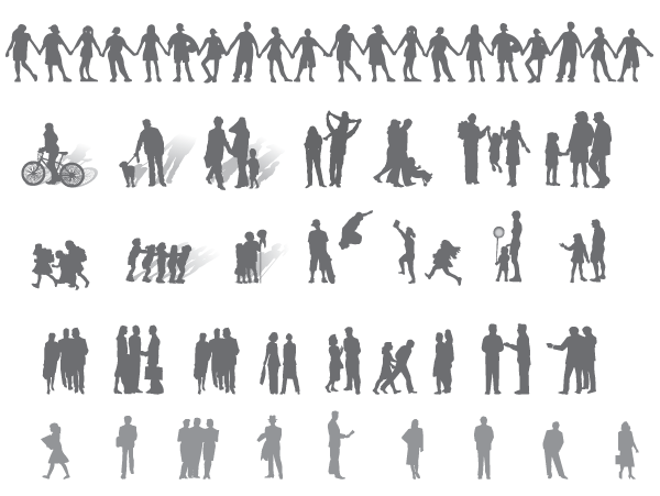 Free Human Vector Shapes