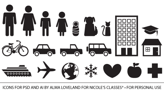 Free Infographic People Icons