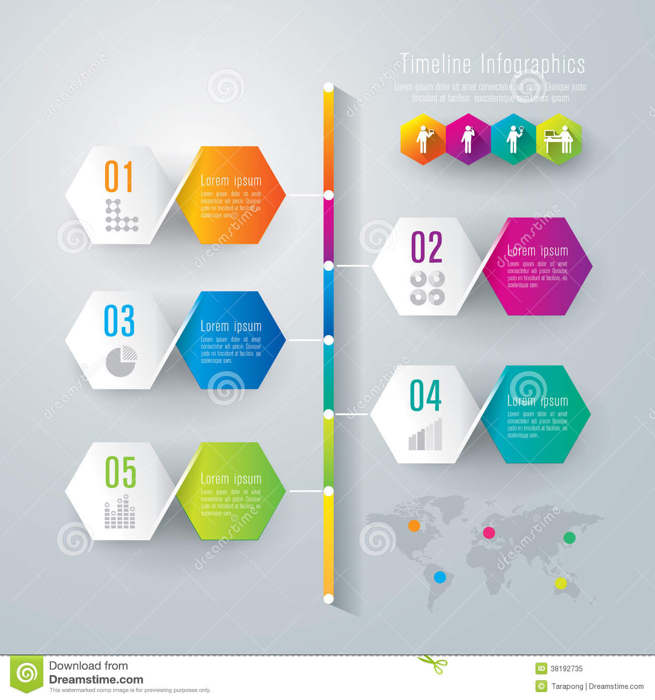 9 Infographics Timeline Design Template Images