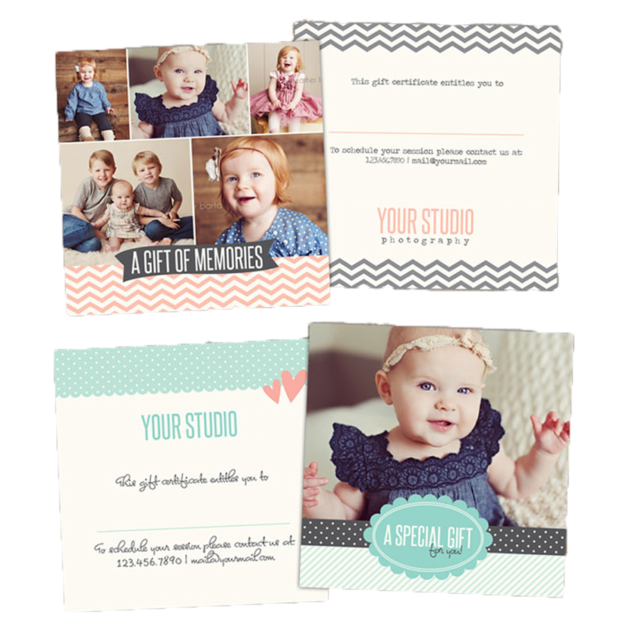 Free Photoshop Gift Certificate Templates