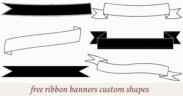 Free Photoshop Shapes Banner Ribbon