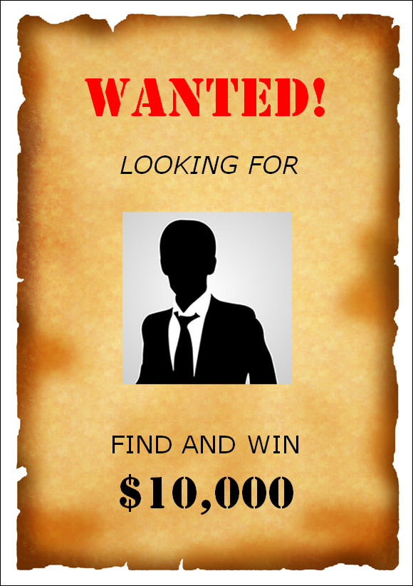 Microsoft wanted poster template