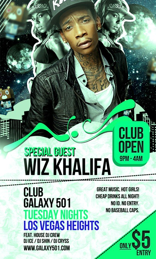 Free Psd Party Flyer Template