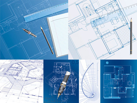 8 Vector Architecture Blueprints Images