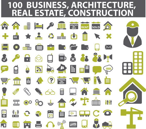 Free Vector Icons Architecture
