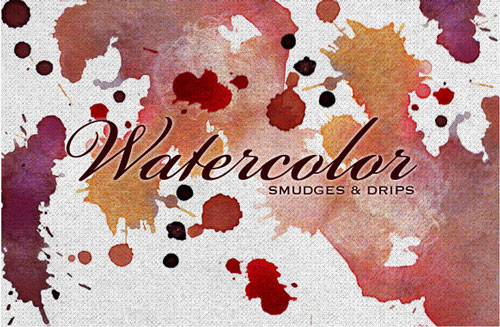 5 Vector Watercolor Smudges Images