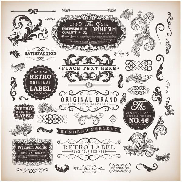 7 Vector Vintage Label Border Images